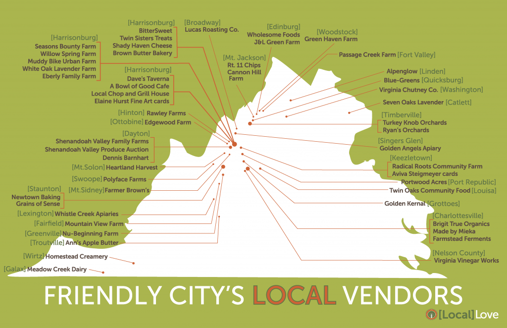 Local Vendors Map