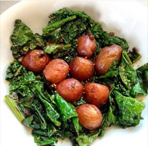 Dinosaur Kale With Baby Potatoes Recipes — Dishmaps
