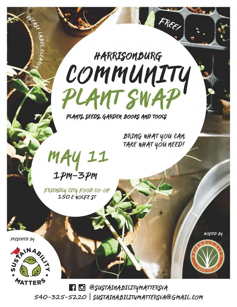 Harrisonburg Community Plant Swap - Friendly City Food Co-op